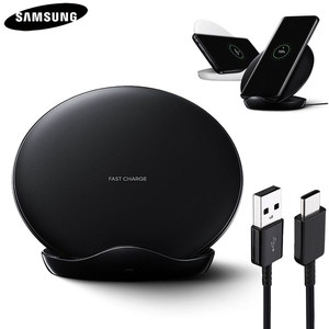 Image 1 - Original QI Fast wireless Charger for Samsung Galaxy S8 S9 S10 Plus G9500 G9300 G9350 S6 S7 Edge Note 8 Note 9 SM G965F EP 5100