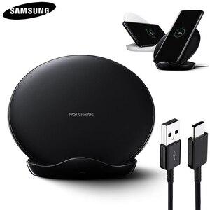 Image 1 - Оригинальное Быстрое беспроводное зарядное устройство QI для Samsung Galaxy S8 S9 S10 Plus G9500 G9300 G9350 S6 S7 Edge Note 8 Note 9 SM G965F