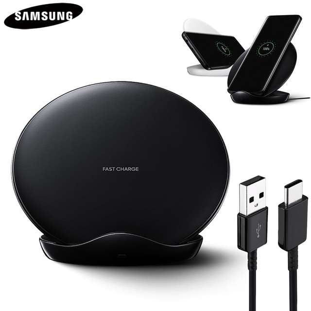 Оригинальное Быстрое беспроводное зарядное устройство QI для Samsung Galaxy S8 S9 S10 Plus G9500 G9300 G9350 S6 S7 Edge Note 8 Note 9 SM G965F