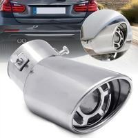 Silenciador de tubo de escape curvo de Metal trasero Universal para coche  accesorios de punta de escape 2019 Colectores de escape     -