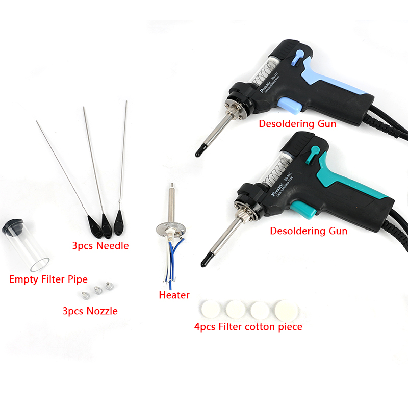 Pro'sKit SS-331H LCD Digital Desoldering Station Electric Desoldering Gun Accessories Weld For Empty Filter Pipe Nozzle Heater