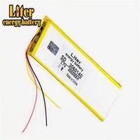 3 line 0360140 3.7V 4000mAH 3060140 PLIB; polymer lithium ion / Li-ion battery for tablet pc power bank cell phone speaker;pipo