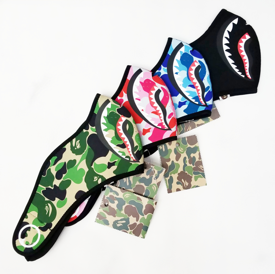 Camouflage Shark Mask Training Running Rding Windproof Keep Warm Ski Men Women Half Mask Cover Protection Against Cold Outdoor