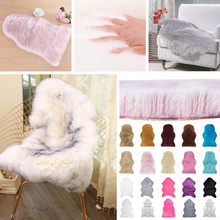 Fur Artificial Sheepskin Hairy Carpet Living Room Bedroom Rugs Skin Fur Plain Fluffy Area Rugs Washable Bedroom Faux Mat(China)