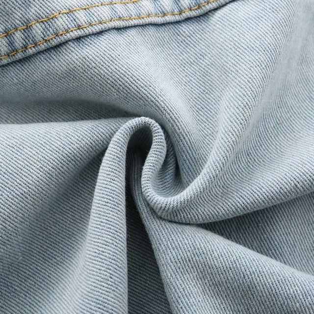 Women Frayed Denim Jacket Coats & Jackets Women color: Blue
