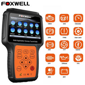Foxwell NT650 OBD2 Automotive Scanner ABS Airbag SAS EPB DPF TPMS Oil Reset Injector ODB2 Car Diagnostic Tool OBD 2 Auto Scanner(China)
