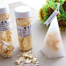 Feuille d'or bougie feuille d'or INS chaud pour bougies moules Silicone décoration moule savon pour bougie faisant aromathérapie Usin F6T6
