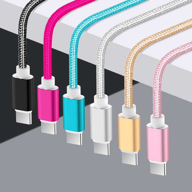 Nylon 25cm 1m 2m 3m Data USB Charger Cable For iPhone 6s 6 s 7 8 Plus Xs Max XR X 10 5s iPad Fast Charging V8 Long Wire Cord
