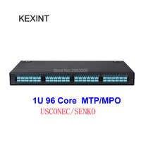 KEXINT MPO/MTP 96 Core For LC Quad Adapter Max Modular 96 Port Fiber Optic Patch Panel 24 core module box OM3 OM4 A polarity