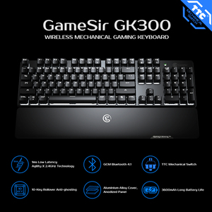 Image 2 - GameSir GK300 2.4GHz Wireless Mechanical Gaming Keyboard Aluminium Alloy Bluetooth Keypad with Wrist Rest for Android / iOS / PC