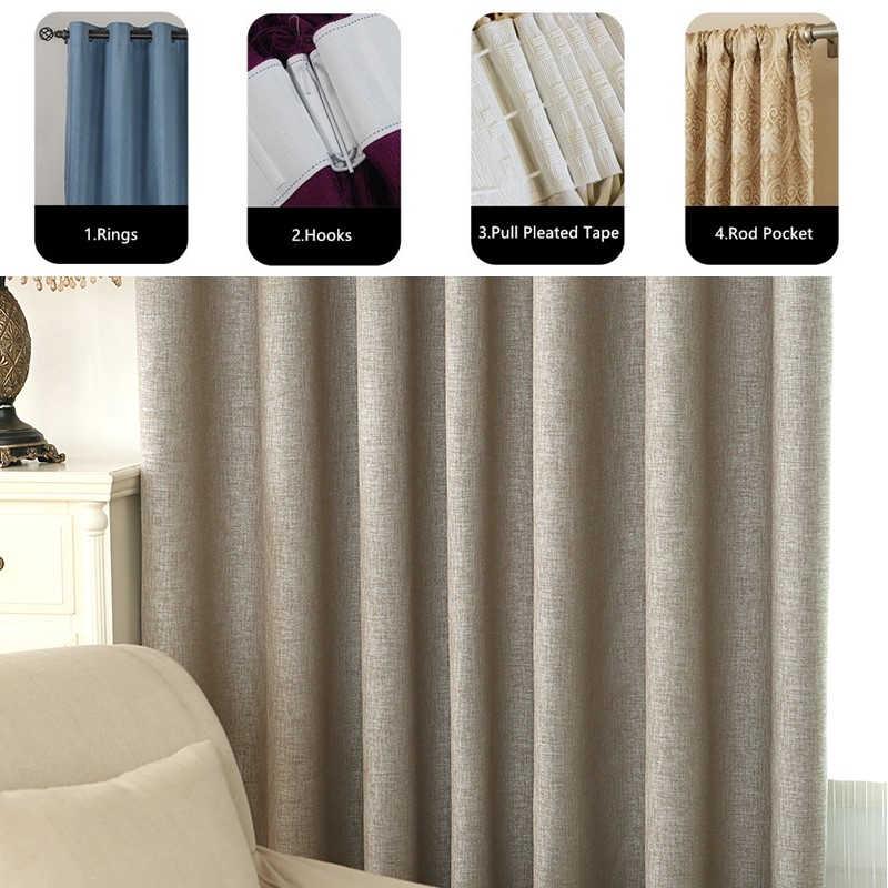 2019 плотные льняные хлопковые занавески из современной ткани занавески s ткани для шторы для спальни гостиной Cortina шторы