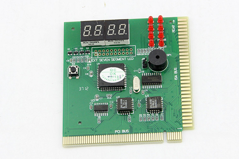 New 4-Digit LCD Display PC Analyzer Diagnostic Post Card Motherboard Post Tester Indicator With LED For Mian Board