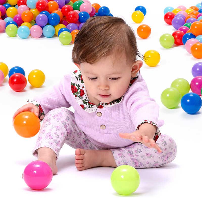 環境にやさしいカラフルなボールソフトプラスチックオーシャンボールベビーキッズスイムピット玩具水プール海波ボール 5.5 センチメートル