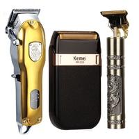 Elektrische LCD Haar Clipper Trimmer Für Männer Rasierer Bart Barber Haar Schneiden Maschine Vier-Farbe USB 2021 Neue