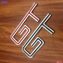 1pcs 3D black red GT logo car stickers Metal GT Auto Badge Trunk Fender Sticker Emblem Decal Car Styling for Ford Mustang BMW цена и фото