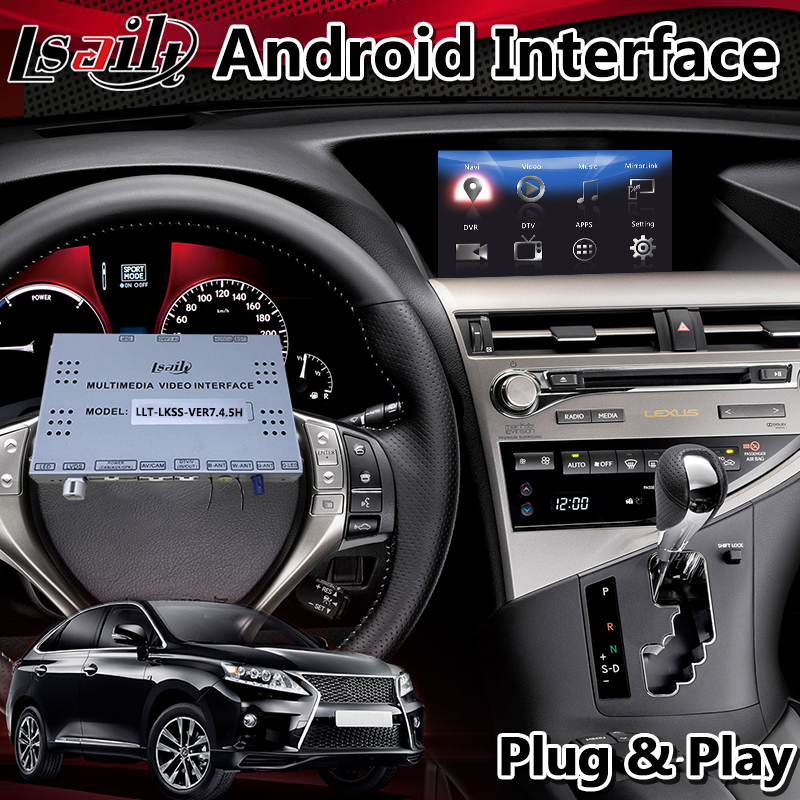 Lsailt Android Multimedia Video Interface for Lexus RX 450h 2013-2015 Year Mouse Control <font><b>Car</b></font> <font><b>GPS</b></font> Navigation Box for RX450h image