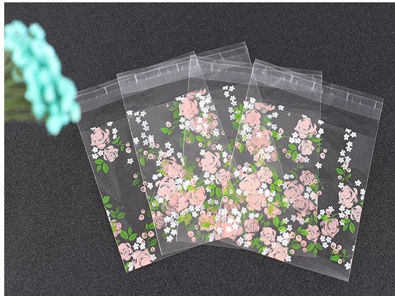 Bộ 100 Túi Nhựa Cảm Ơn Bạn Cookie & Túi Kẹo Tự Dán Cho Đám Cưới Sinh Nhật Tặng Túi Đựng Bánh Quy làm Bánh Bao Bì Túi