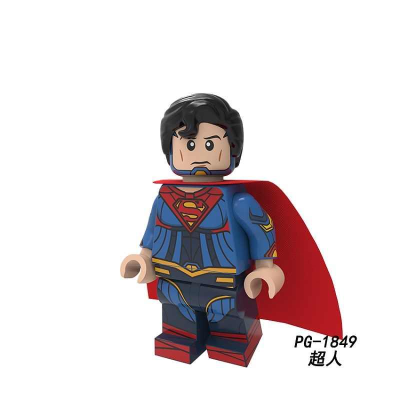 Única venda blocos de construção super heróis superman electro veneno hera veneno oceano mestre doutor destino figuras crianças brinquedos pg8210