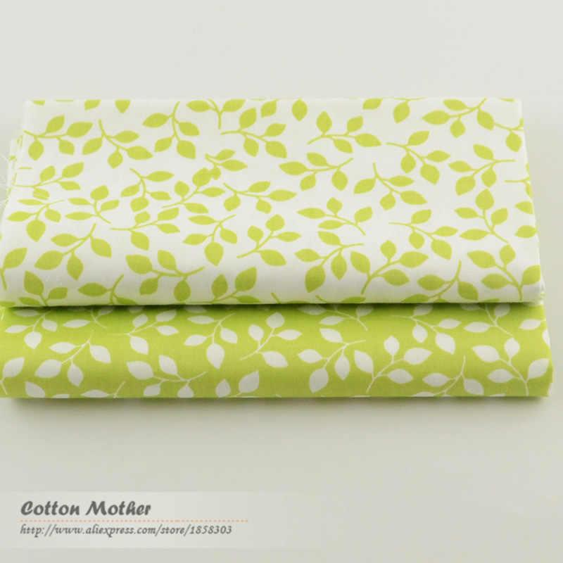 2 조각 녹색 40cm x 50cm 코 튼 원단 퀼 팅 조직 tecido tida 패치 워크에 대 한 봉 제 직물 저렴 한 tecidos 파라 roupa