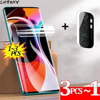 1~3uds Mi Note 10 Lite Hidrogel+película de cámara Xiaomi Redmi Note10 Lite Protector de pantalla no-cristal Anti-rayado 100D curvado cubierta completa película protectora Redmi 10T Mi Note 10Lite 10Pro película suave
