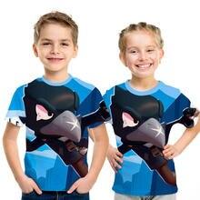 В году, новая летняя детская футболка с изображением стрельбы Мужская футболка с 3D принтом футболка с короткими рукавами и героями мультфильмов для мальчиков и девочек детская одежда