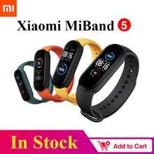 Xiaomi – Bracelet connecté Mi Band 5, écran AMOLED de 1.1 pouces, capteur d'activité physique avec suivi de la fréquence cardiaque, Bluetooth 5.0, étanche, Original
