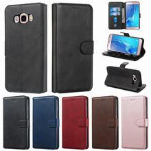 Funda para Samsung Galaxy J5 2016 fundas de teléfono Cartera de cuero Flip Retro negocios Smartphone funda para Samsung J5 J510 funda