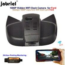 Jabriel עבור 2019 2020 פורד פוקוס ליווי S MAX בריחת קצה פיאסטה EcoSport מזל שור Explorer נסתרת 1080P Wifi דאש מצלמה רכב dvr