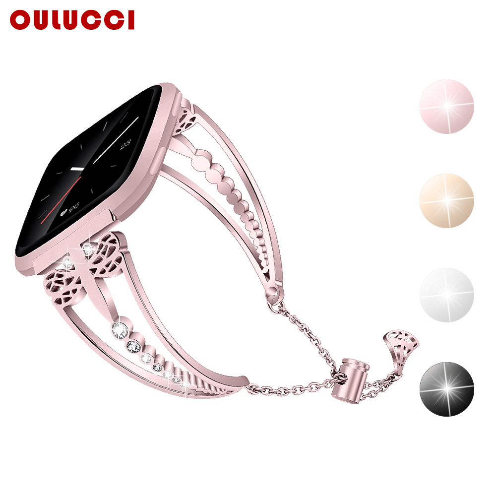 OULUCCI  Metal Watch Bracelet Strap Wristband For Fitbit Versa 2 Band Bracelet Band Accessories For Fitbit Versa2 Strap Womens