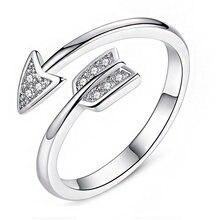 Модное серебряное кольцо со стрелой для апидов стрелы посеребренное