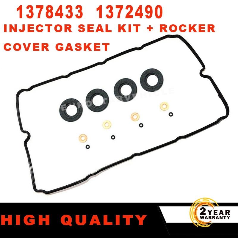 Для FORD TRANSIT MK7 2,2 TDCi уплотнитель Инжектора Комплект + прокладка клапанной крышки 1372490 1378433