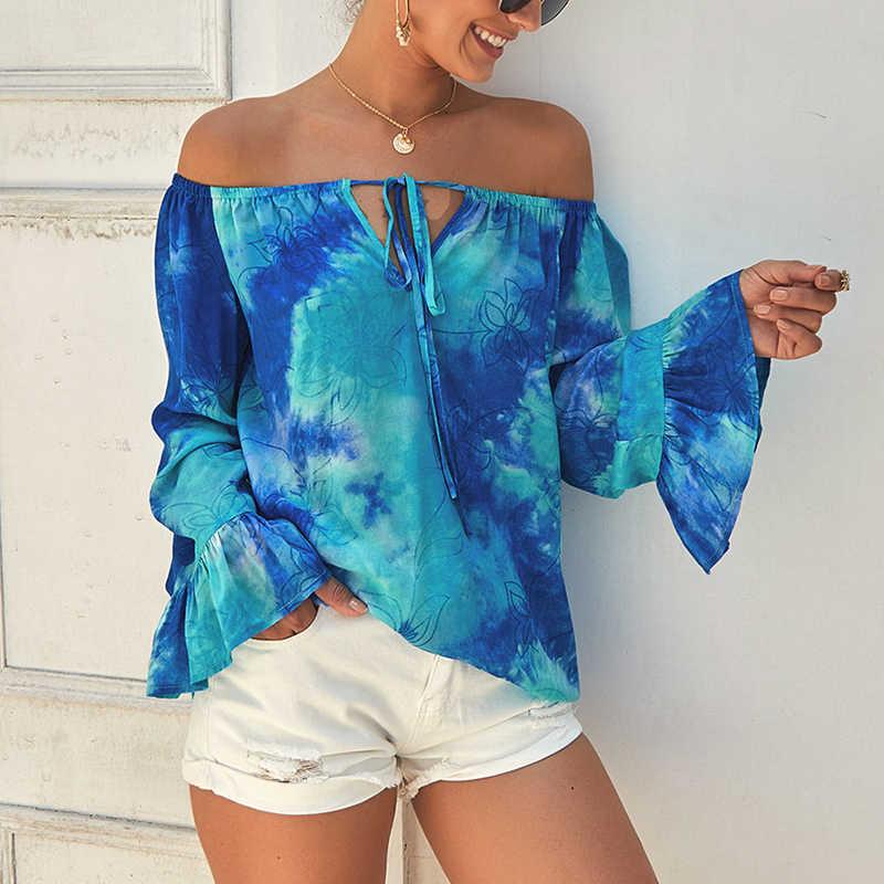 Plus rozmiar 2019 kobiet nowy lato Boho drukuj kwiat topy z długim rękawem T Shirt kobiet koszulka casual koszula Multicolor koszula ciążowa