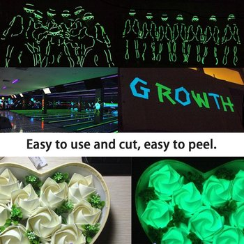 Luminous Fluorescent Night Self-adhesive Glow In The Dark Sticker Tape Safety Stage Security Home Decoration Warning Tape 2