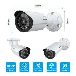 Image 2 - Камера наружного видеонаблюдения H.View, камера безопасности, 16 каналов, 1080 пикселей, DVR, поддержка iPhone, Android, дистанционный контроль