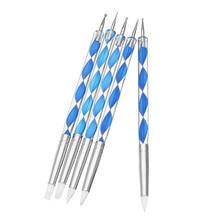 DIY 5X2 способ гончарная глина шарики Stylus инструменты полимерные инструменты для создания скульптур из глины инструменты для нейл-арта Силиконовые Цветные Формочки инструмент для раскрашивания