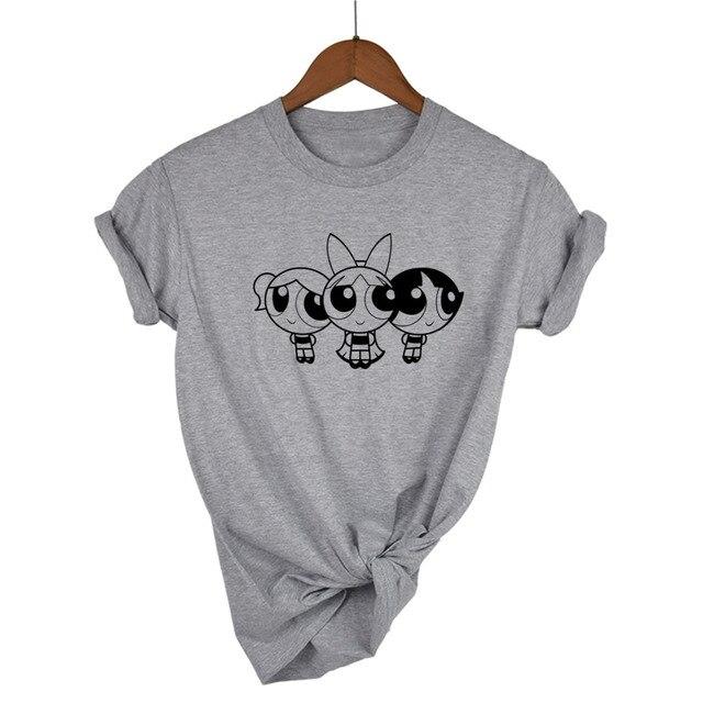 Powerpuff Girls Il Giorno È Salvato Licenza Adulto T della maglietta Del Fumetto degli uomini Unisex di Nuovo Modo della maglietta di trasporto libero top