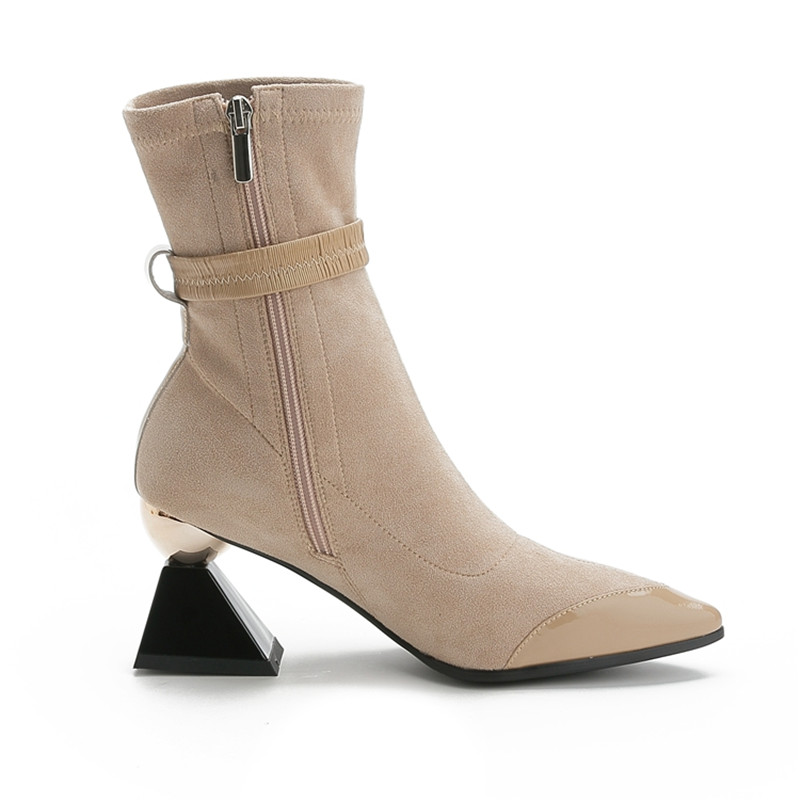 Image 4 - MORAZORA 2020 new arrival genuine leather shoes women ankle boots unique high heels boots autumn party dress shoes woman-in Ankle Boots from Shoes