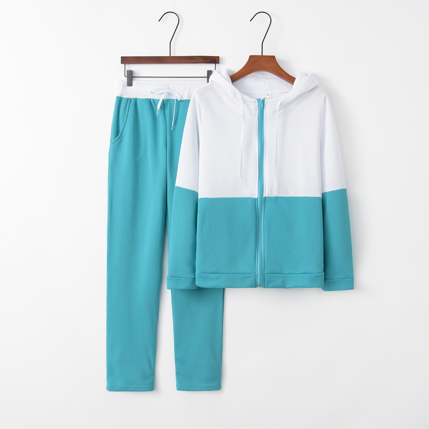 Green outfit tracksuit sportswear for women hoodies Two Piece Set Top And Pant suit co-ord Sweat Casual female Clothes 2019 2PCS