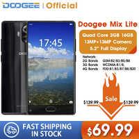 Smartphone DOOGEE MIX Lite Original double caméra 5.2 ''MTK6737 Quad Core 2GB + 16GB Android 7.0 3080mAh téléphones mobiles avec empreinte digitale