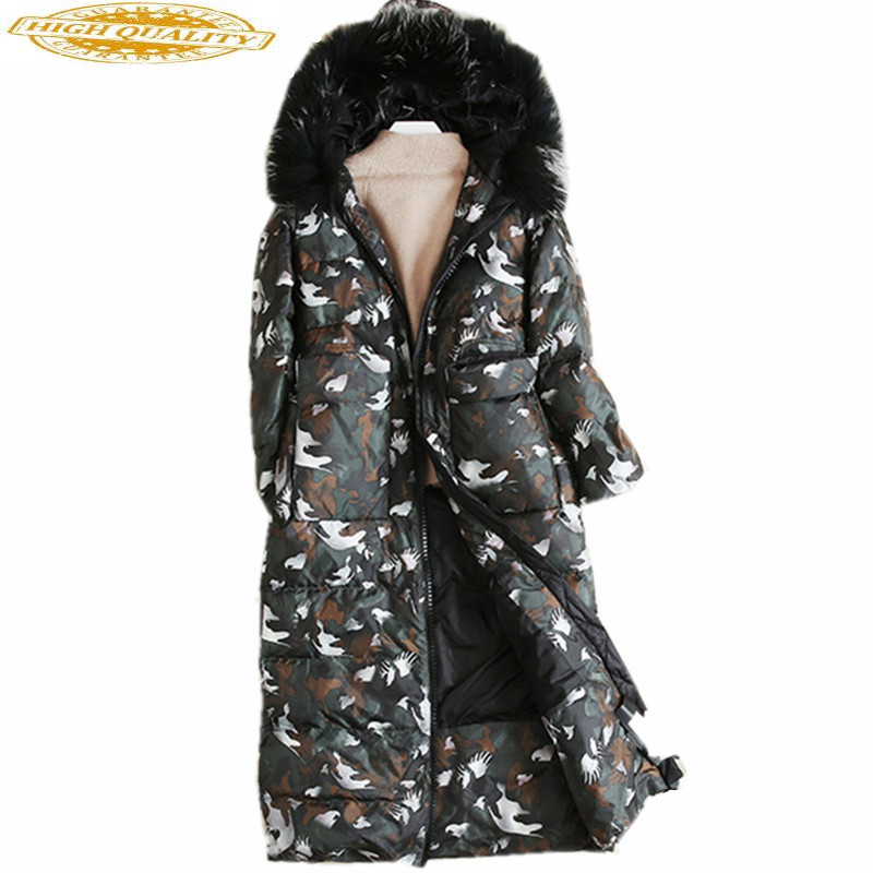 Fashion Camouflage Thick Coat Women's Down Jacket Winter Warm White Duck Down Coats Casacos De Inverno Feminino WXF128