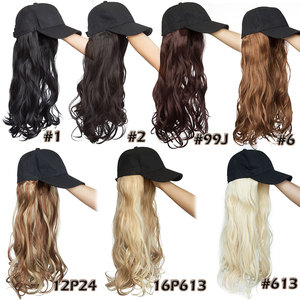 Image 5 - SNOILITE 16inch Wavy Hair Extensions with Black Cap Long Synthetic extension hair integrate cap with hair for girl party