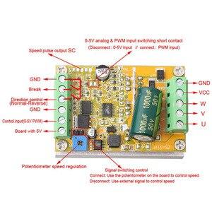 Image 5 - Placa de controlador sem escova quente do motor de wsfs 380w 3 fases (não/sem sensor hall) placa de motorista do plc de bldc pwm dc 6.5 50v