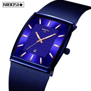 Image 1 - Relogio Masculino NIBOSI Luxus Marke Uhr Männer Edelstahl Mesh Band Quarz Sport Männer Uhr Chronograph Platz Uhr Uhr