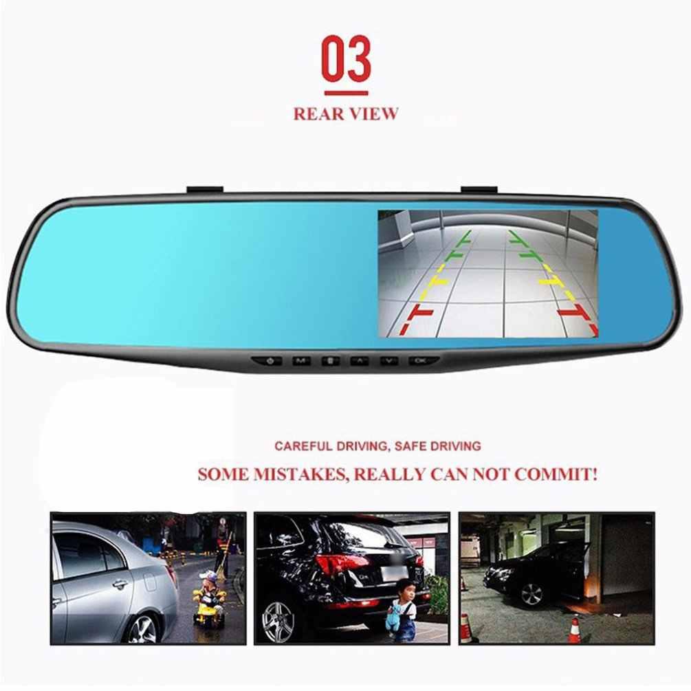 3,5 дюймов Даш камера заднего вида Автомобильный видеорегистратор Камера HD 1080P зеркало заднего вида цифровой видеорегистратор двойной объектив Авто видеорегистратор
