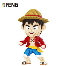Luffy Big Size Model Building Block Mini Particles Bricks Assembled Plastic Toys for Children Gifts недорого