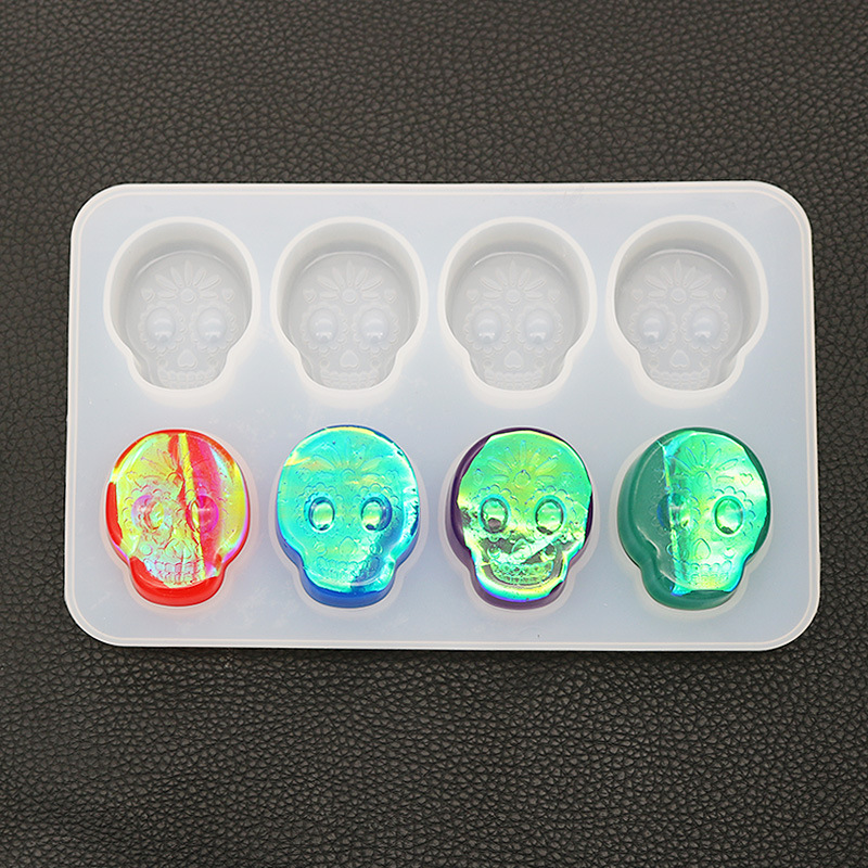 Gothic Silicone Mold Sugar Skull Mold Craft Supplies Mexican Halloween Mold Resin Art UV Resin Mold UVResin Pendant Mold