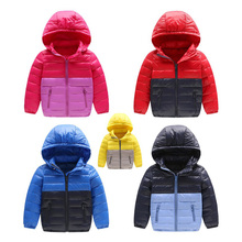 Fashion Boy Girl Down Coats Girls Winter Warm Outerwear Childrens Hooded Casual Clothes