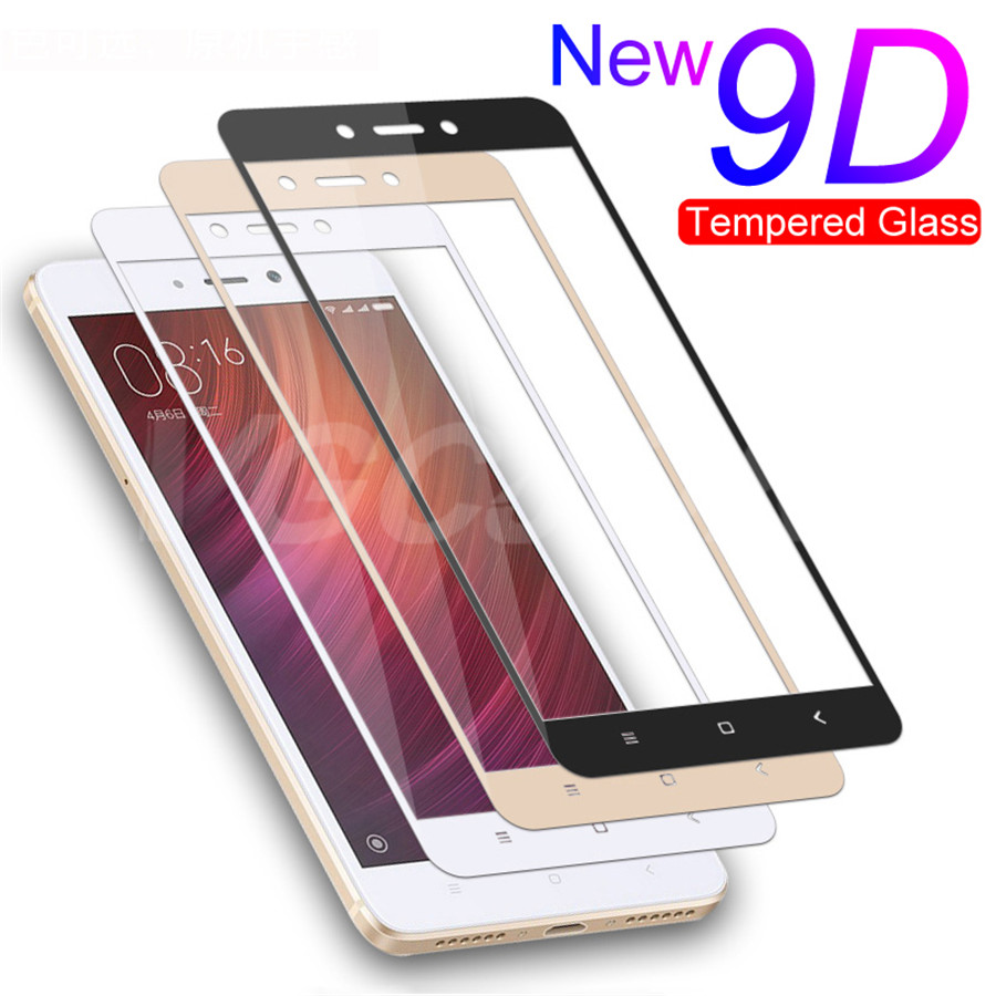 <font><b>9D</b></font> Full Cover Protective Glass For <font><b>Xiaomi</b></font> <font><b>Redmi</b></font> Note 4 <font><b>4X</b></font> 5A Pro Tempered Glass For <font><b>Redmi</b></font> 5 Plus S2 <font><b>4X</b></font> GO Screen Protector Film image