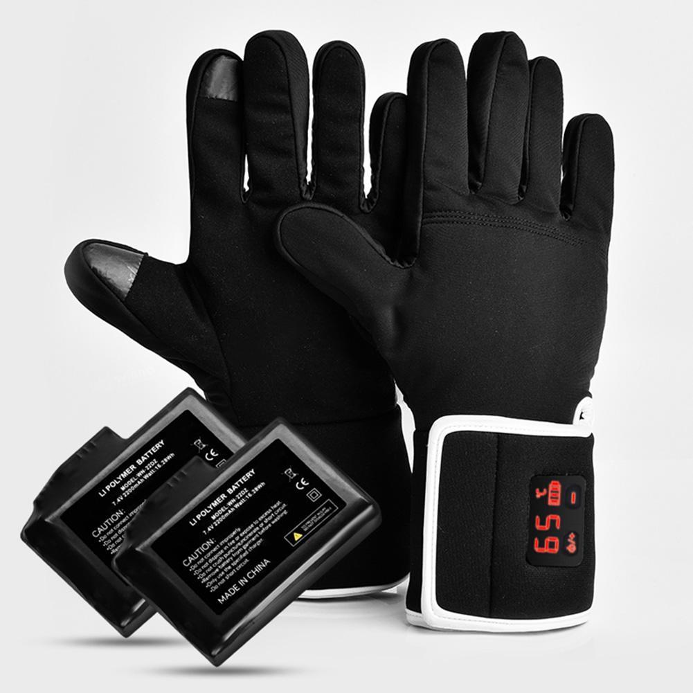 Перчатки с подогревом, теплые, с сенсорным экраном, водонепроницаемые, с электрическим подогревом, для зимы, на открытом воздухе, для велоспорта, пешего туризма, катания на лыжах, верховой езды