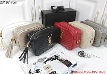 Damski luksusowy projektant marki ysl-torebka na ramię torebki damskie torebki Bolsa Feminina Y25 tanie tanio YSL YVES SAINT LAURENT Skrzynki Na ramię i torebki FR (pochodzenie) Skóra Split